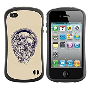 Be-Star Colorful Printed Design Anti-Shock Iface First Class Tpu Case Bumper Cover For Apple iPhone 4 / iPhone 4S ( blue purple skull agony death metal ) Kimberly Kurzendoerfer