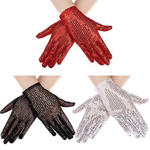 (Sunblock Fingerless Lace Gloves Wrist Length Flower Gloves Bridal Wedding Gloves for Women Girls Prom Evening Wedding Party (Color Set 2))