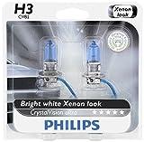 Philips H3 CrystalVision Ultra Upgrade Headlight Bulb, 2 Pack