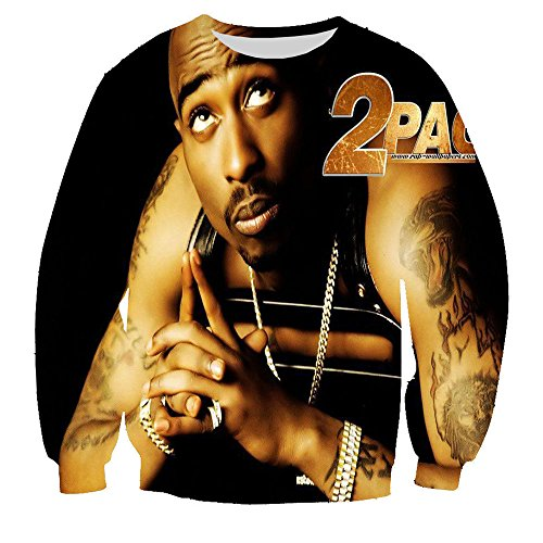 Unisex Hipster Tupac Sharkur 2pac Swag 3D Sweatshirt Hoodies Sweat Shirt - Canada Gear Running