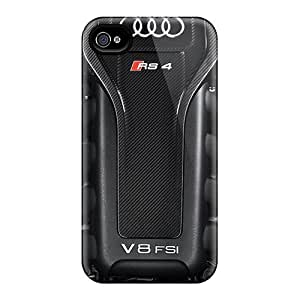 Perfect Cell-phone Hard Cover For Apple Iphone 4/4s With Customized Attractive V8 Audi Rs4 Skin PhilHolmes