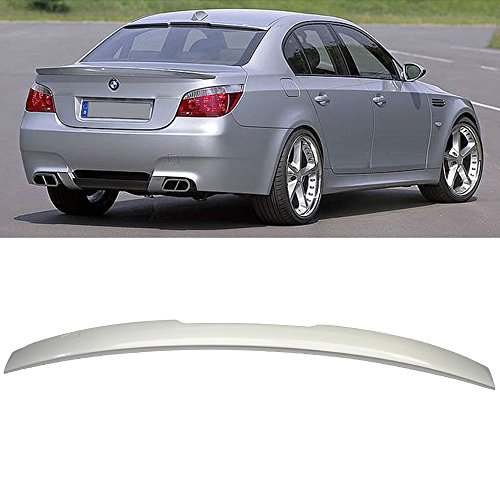 Roof Spoiler Fits Pre-painted 2004-2010 BMW E60 5-Series | AC Painted # 354 Titanium Silver - Other Color Available Rear Trunk Tail Spoiler Wing by IKON MOTORSPORTS | 2005 2006 2007 2008 2009