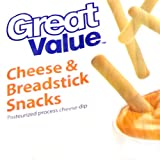 30 - Tasty Great Value Cheese and Breadstick Cracker Snack with Cheese Dip Pack (30 Ct)