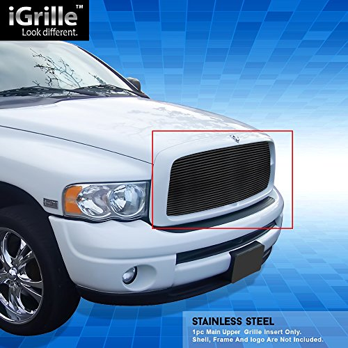 Off Roader Black Stainless Steel eGrille Billet Grille Grill for 2002-2005 Dodge Ram ()