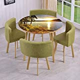 Drum Coffee Table Canada iPrint Round Table/Wall/Floor Decal Strikers,Removable,Sunset Dawn in The Forest Over Lake of Two Rivers Algonquin Park Ontario Canada,for Living Room,Kitchens,Office Decoration