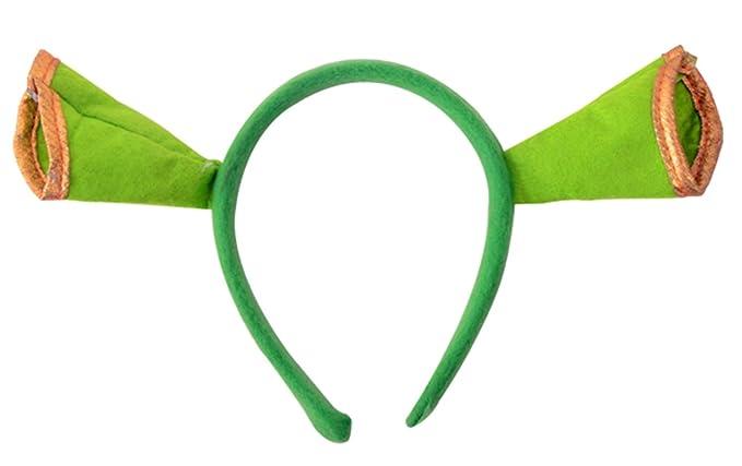 GREEN SHREK EARS OGRE HEADBAND CHILDRENS ADULT FANCY DRESS NEW