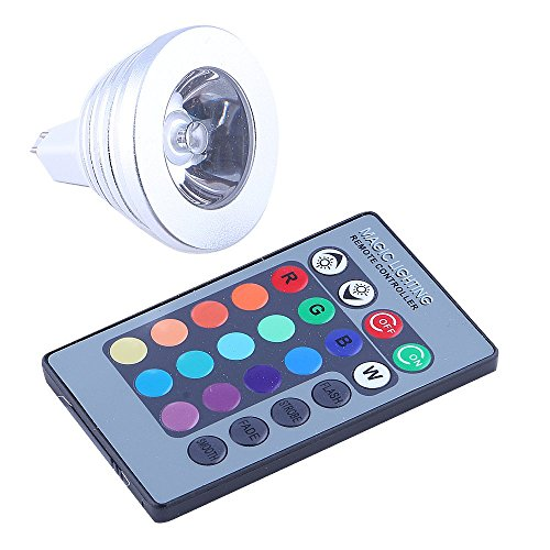 Generic MR16 RGB LED Light Bulb with Multi-Color Remote Control 16 Changeable Colors Energy Saving RGB LED Lamp