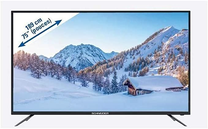 SCHNEIDER LED75-SCPX200K TV LED 4K UHD – 75 190 cm – 3 x HDMI – 2 x USB – Clase energética A: Amazon.es: Electrónica