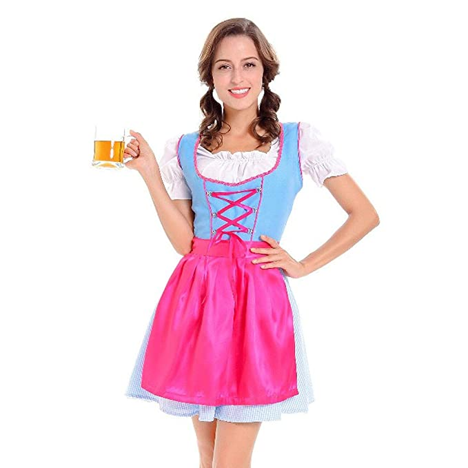 supersu 3 pieza Mujer tirolesa vestido Carnaval Oktoberfest ...