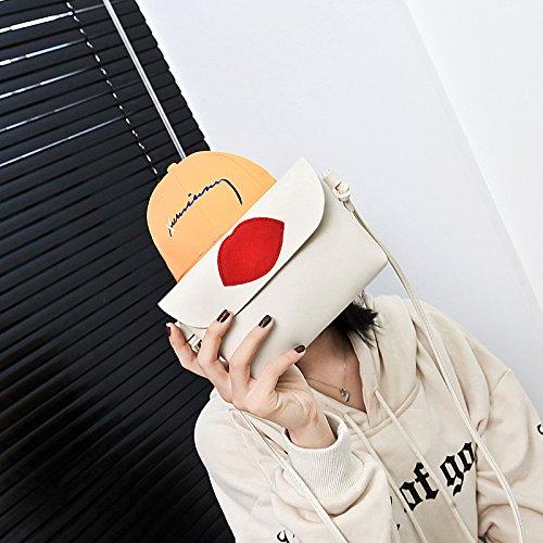 variacion agarra Blanco Marea ZHANGJIA Cero la Lip Bag Solo la white Satchel Mobile Phone Print Atmósfera Cartera Bolsa Pequeña Arroz la Bolsa Hombro Que Rice de Golpear Mano qP7nwHfq
