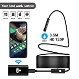 Wireless Endoscope Youngzuth WiFi Borescope Inspection Camera 2.0 Megapixels HD Snake Camera for Android and IOS Smartphone iPhone Samsung Tablet - Black(11.5FT/3.5M)