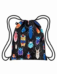 LOQI Backpack, Insects Print, Multi-Colored Print, International Carry-on