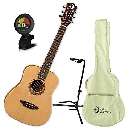 [해외]루나 사파리 뮤 즈 스프루 스 어쿠스틱 기타 + 가방 스탠드 및 튜너 / Luna Safari Muse Spruce Acoustic Guitar wBag Stand and Tuner