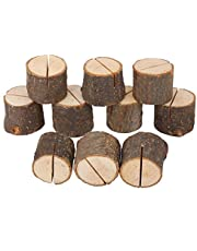 Wedding Table Card Holder 10Pcs Stump Shape Wedding Party Place Card Holder Stand Number Table Clip Card Holder