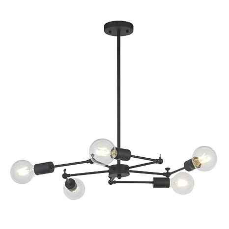 new style a3aae 658b9 Surpars House 5 Lights Sputnik Chandelier Modern Pendant ...