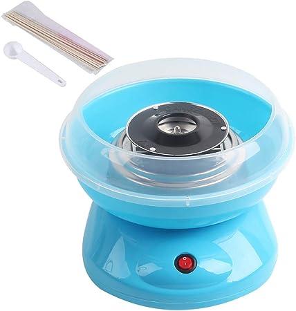 CNCBT Máquina eléctrica para Hacer Hilo Dental de azúcar de algodón con Palos y Cuchara para Fiestas Infantiles/cumpleaños/Bodas, Azul: Amazon.es