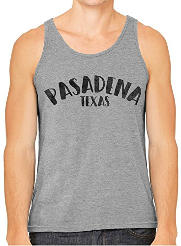 Austin Ink Apparel City of Pasadena Texas Printed Unisex Tank Top, Hgrey, XL -