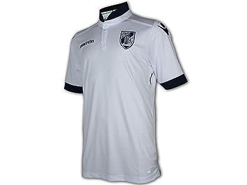 Macron Vitoria Guimaraes Home Jersey 16/17 - Camiseta de fútbol, Color Blanco, Unisex, Blanco/Negro, Large: Amazon.es: Deportes y aire libre