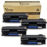 V4INK 4 Pack Compatible Replacement for 05A CE505A Toner Cartridge - Black for use in HP LaserJet P2035, P2035n, P2055dn series printers