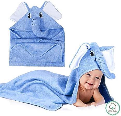 Momcozy Toalla con Capucha de Baño para Bebés con Lindo Diseño de ...