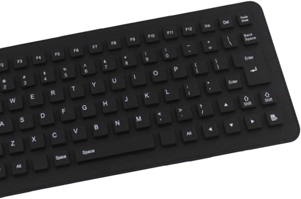 Newest 85keys Version Letters Wire USB Interface Silicon Keyboard Layout Waterproof for PC Laptop Keyboard fold Kavas