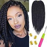 "Mirra's Mirror 6Packs 12"" Havana Twist Crochet Hair Mambo Twist Senegalese Crochet Braids Braiding Hair 75gram/12 roots/Pack"