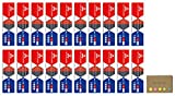 Uni Mitsubishi Vermilion Red and Prussian Blue Pencil, 5:5 Hexagonal Body, 20-pack/total 240 pcs, Sticky Notes Value Set