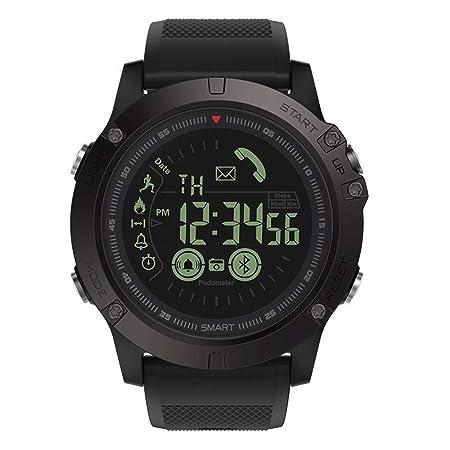 Reloj Inteligente Bluetooth de 5ATM, Relojes Inteligentes para Deportes al Aire Libre, Bluetooth con notificación de Llamadas por SMS Cámara remota ...