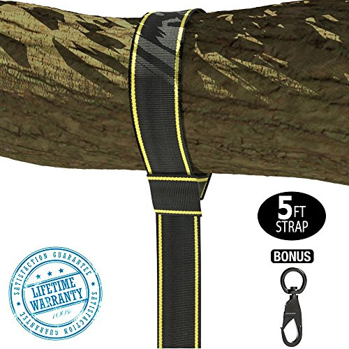Best Review Of NEW - 5FT TREE SWING HANGING KIT - Holds 2800 lbs (SGS Certified) Fastest & Easiest W...
