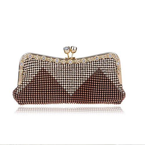 Sac À Evening Ladies Party Womens Main Brown Nuptiale Épaule Lgsvb Sparkly XxTw1np