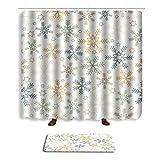 Mrsrui Printing Fabric Shower Curtain Doormat Bathroom Mats Carpet Non Toxic Eco-Friendly Home Decorations (eleven)