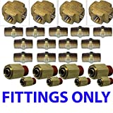 Chassis Tech XFITX Air Suspension valves Fittings only Kit All U Need for 8 Brass Valves 1/4''