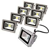 eTopLighting CLEF120V10DL-8P 8 Pack LED Flood Light 120V 10W Bright Home Garden Security Lamp Daylight White Waterproof Fixture