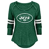 NFL Junior Girls Relaxed 3/4 Thermal Top, New York Jets, Hunter, L(11-13)
