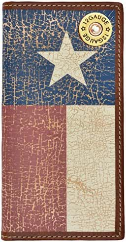 Custom 12 Gauge Long Wallet with Distressed Texas Lone Star Flag