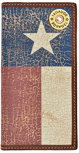 Texas Distressed Wallet with Star Flag Custom Long 12 Gauge Lone qxIUY6