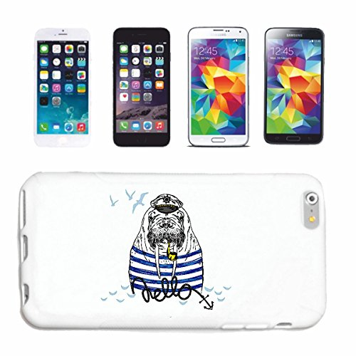 "cas de téléphone iPhone 7+ Plus ""ALTER SEAL AVEC SIFFLET AS SEA CAPTAIN LION CHIEN SEALS SEA LIONS SEALS SEAL NORD"" Hard Case Cover Téléphone Covers Smart Cover pour Apple iPhone en blanc"