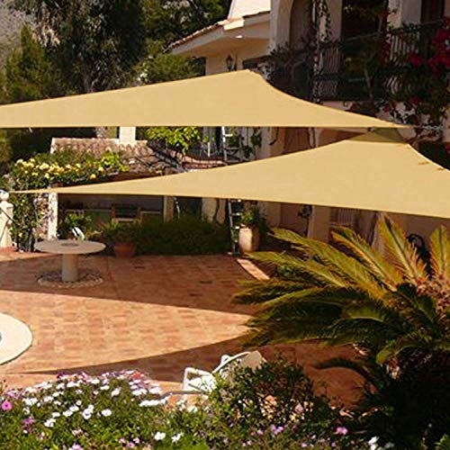 Shade&Beyond 2 Pcs 12'x12'x12' Sun Shade Sail Triangle Sand UV Block for Yard Patio Backyard (Shade Do Pergolas Provide)