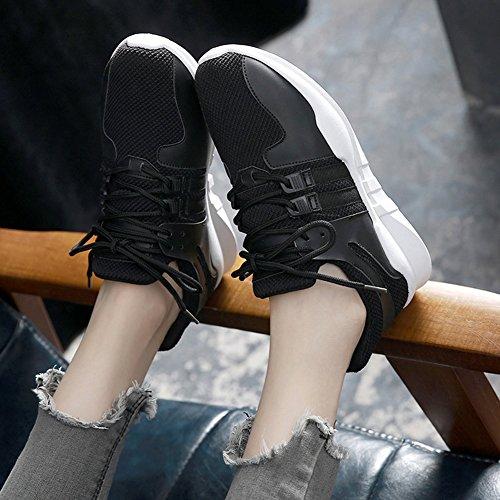 Athletic Fitness Lauftrainer Sport Damen Mesh Casual Damen Outdoor Walking Multi Jogging Wealsex leichte Schwarz Schuhe atmungsaktiv X8Bvwqw