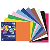 Pacon Smart-Stack Sulphite Acid-Free Non-Toxic Construction Paper, 76 lb., 12'' x 18'', Assorted Color