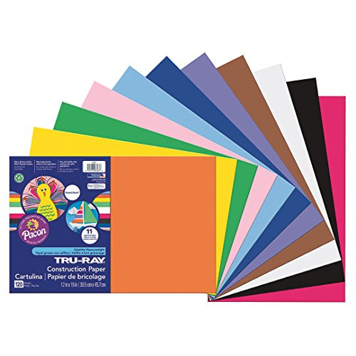 Acid Free Construction Paper - Pacon Smart-Stack Sulphite Acid-Free Non-Toxic Construction Paper, 76 lb, 12