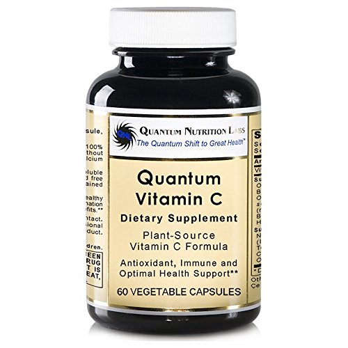 Quantum Vitamin C, 180 VCaps 3 Bottles - Plant-Source Premier Labs Formula - Quantum Research Antioxidant, Immune and Optimal by Quantum Nutrition Labs