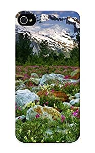Judasslzzlc 87c826d5607 Case For Iphone 5/5s With Nice Canada British Columbia Nature Landscapes Meadow Mountains Snow Peacks Ridge Plants Flowers Stone Rock Appearance