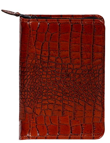 Scully Leather Weekly Planner Croco 5045Z Organizer,Dark Brown by Scully