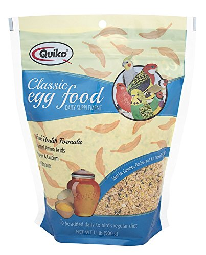 Egg Food Birds - Quiko Classic Egg Food Supplement For All Birds, 1.1 Lb. Pouch