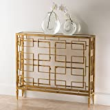 Global Views Murano Swirled Gold Open Block Console