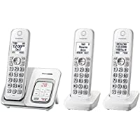 Panasonic KX-TGD533W Cordless Phone with Answering Machine - 3 Handsets (Certified Refurbished)
