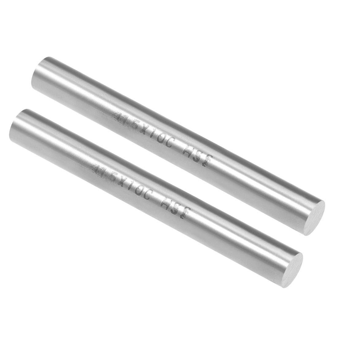 uxcell HSS Lathe Round Rod Solid Shaft Bar 7mm Dia 100mm Length 5Pcs
