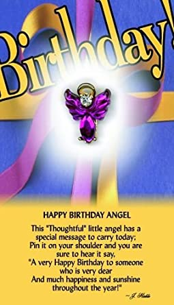 Amazoncom Thoughtful Little Angels 605 Happy Birthday Angel Pin