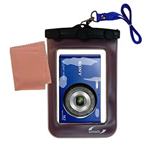 Gomadic Waterproof Camera Protective Bag suitable for the Sony Cyber-shot W330 - Unique Floating Design Keeps Camera Clean and Dry